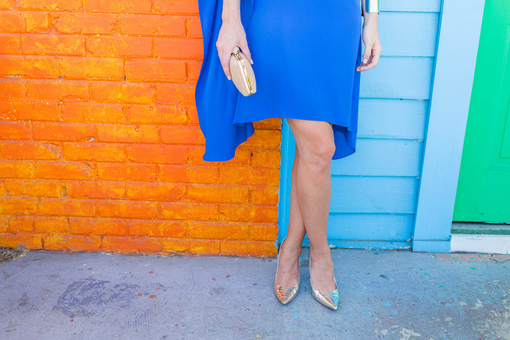 Blue BCBG one-shoulder dress Nashville, TN