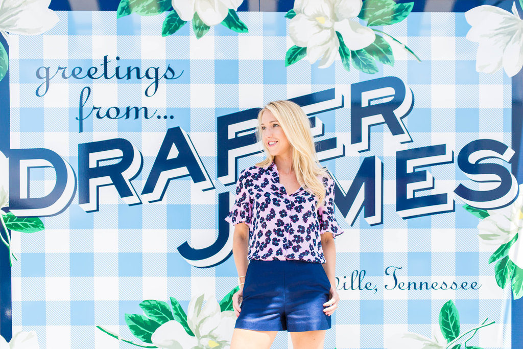 Draper james floral top fall collection 12South Nashville, TN