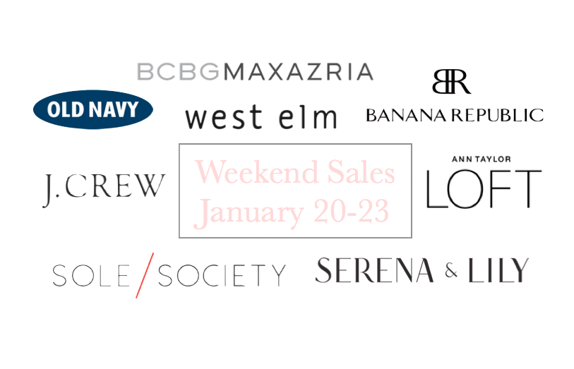 Weekend Sales to Shop