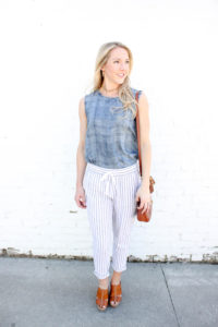 Chambray Tie Top 11