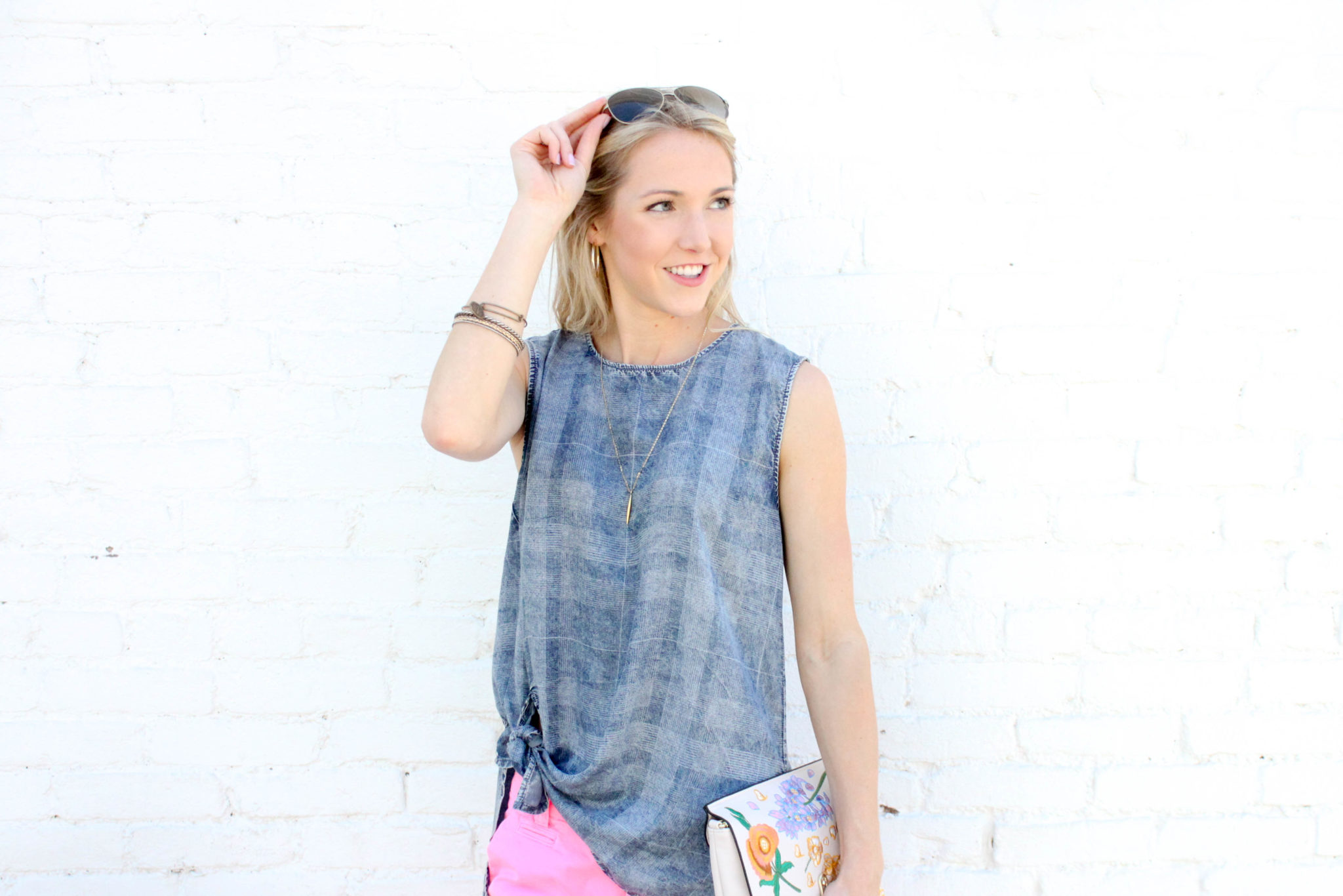 Chambray Tie Top 9