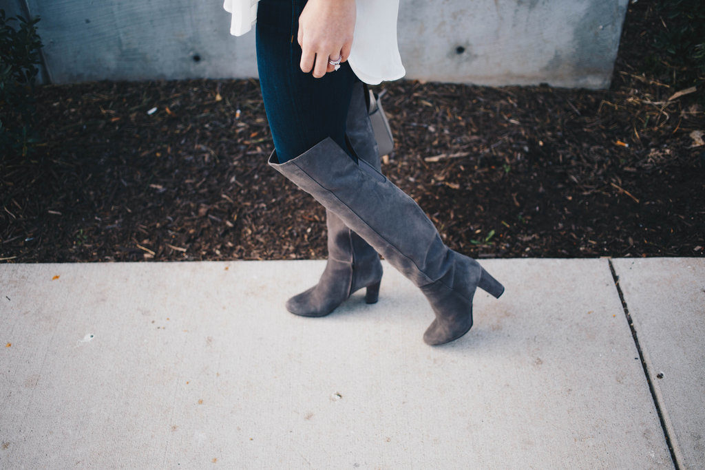 Jeans + Over the Knee Boots